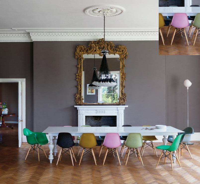 Decoracion Interiores Living Comedor Silla Eames Rosa 4u - $ 6.320 ...