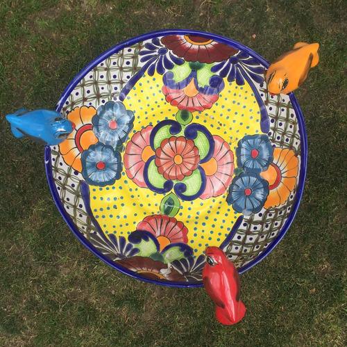 decoración jardín fuente,