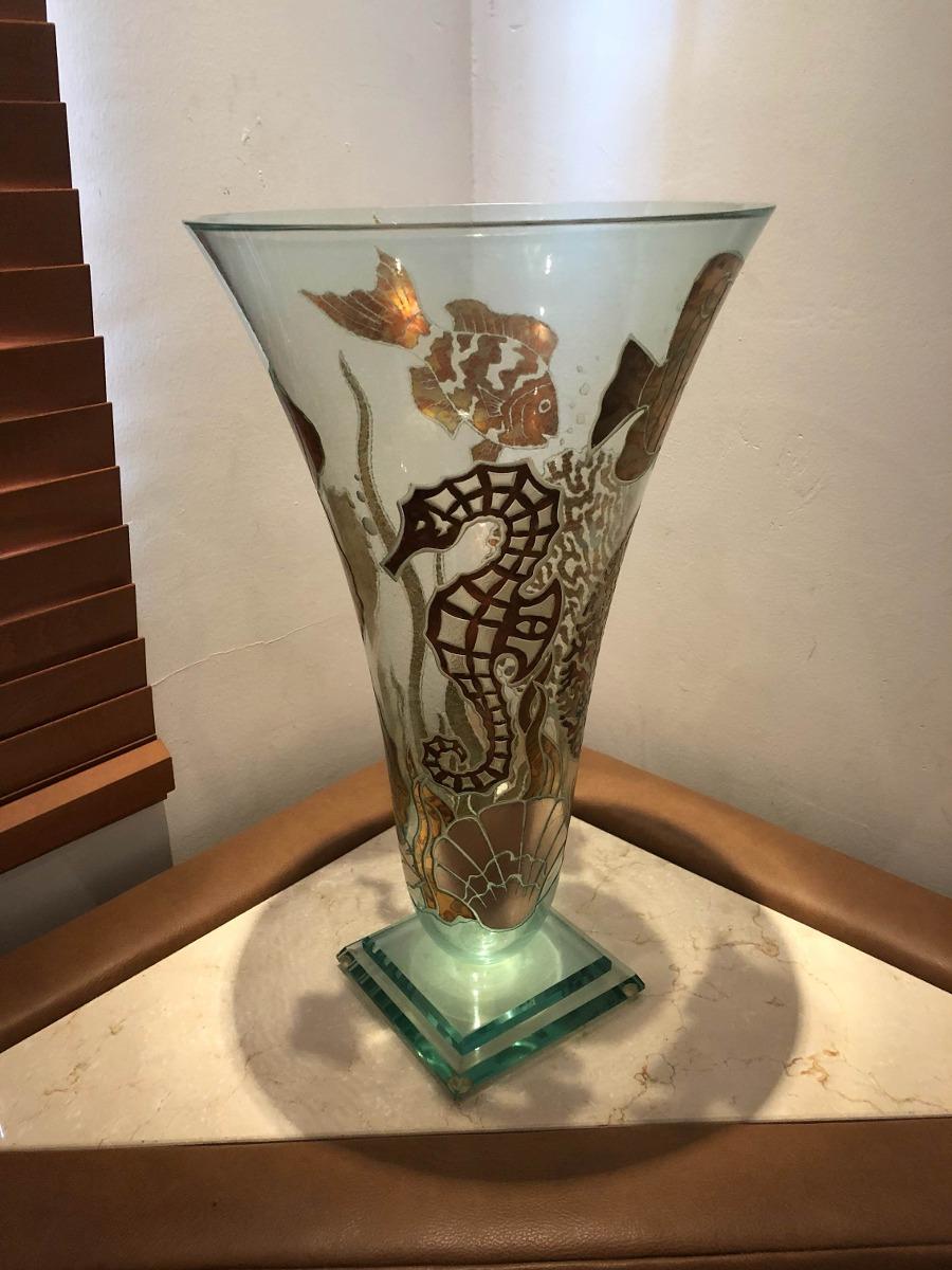 Decoraci n jarrones hoja de oro y vidrio liquidaci n - Decoracion de jarrones de cristal ...