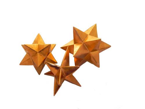 decoración juego de 3 estrellas vintage