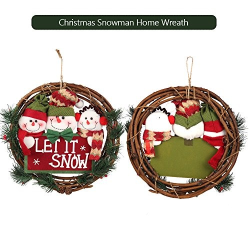 D Fantix Christmas Wreath For Front Door 14 Inch Small Wreaths Decorations