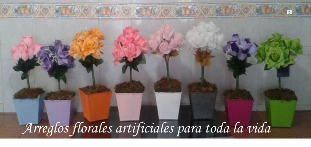 Decoracion maceta con flores artificiales mdn en mercado libre - Decoracion con plantas artificiales ...