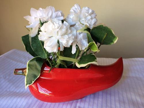 decoración mexicana chile aji florero para poner salsas dip