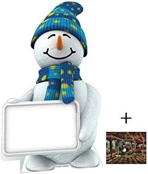 decoración muñeco de nieve con la muestra - la navidad figu