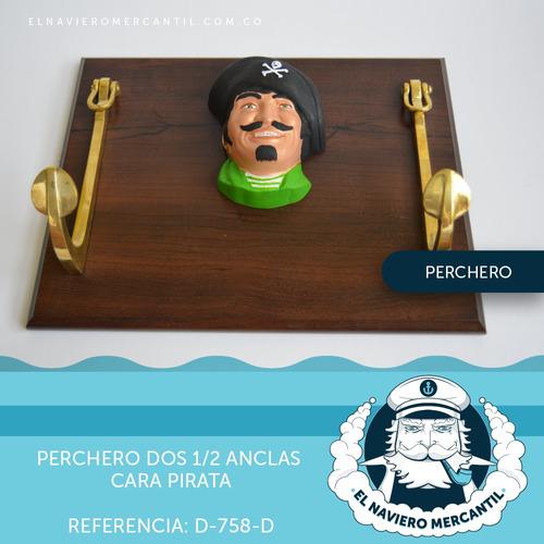 decoración nautica perchero ancla pirata
