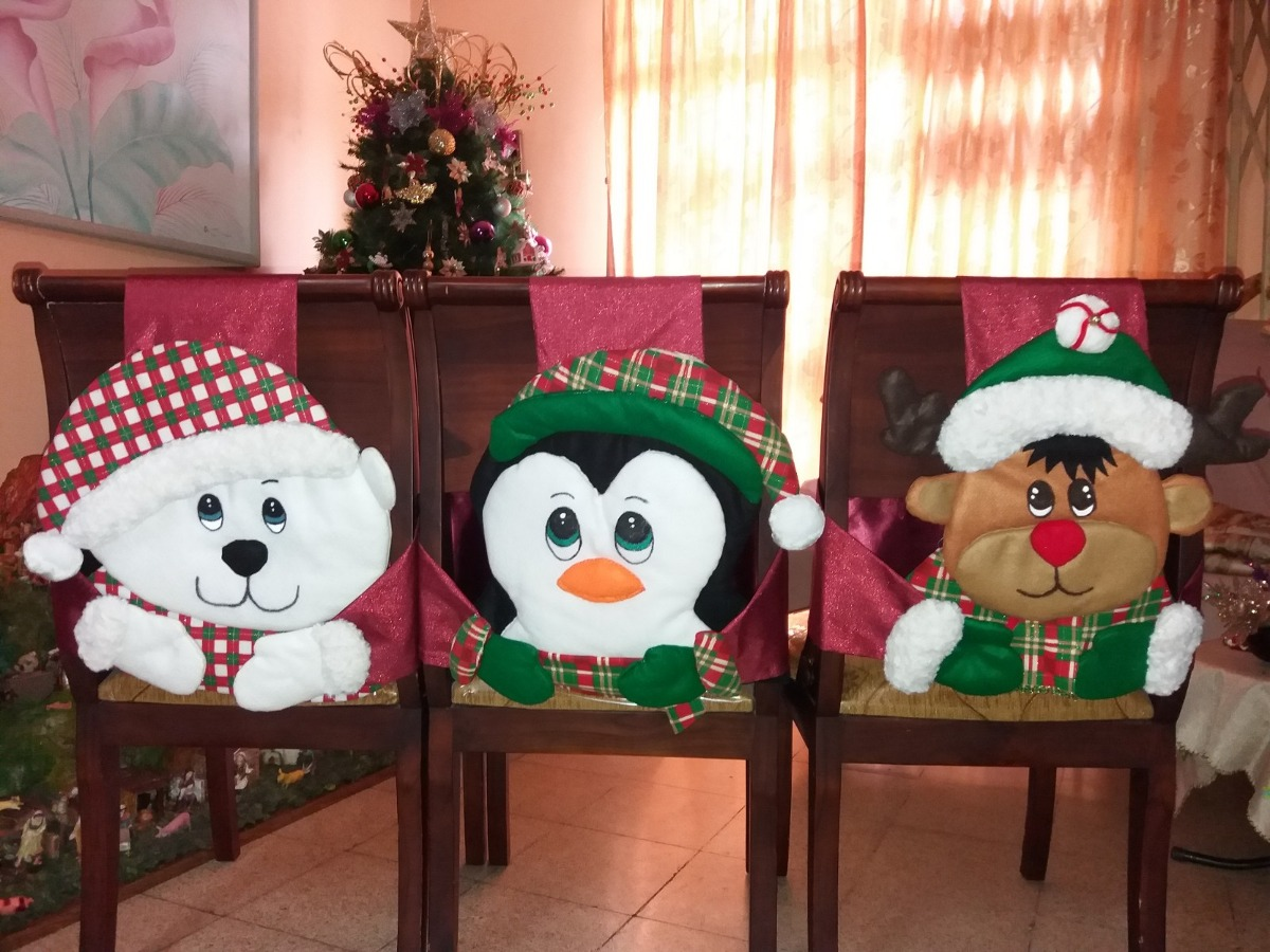 Decoración Navidad: Forros Para Sillas Comedor - U$S 1,00 en Mercado ...