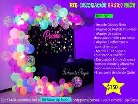 Decoración Neón Party Glow Kit Basíco Fiesta