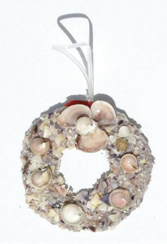 decoracion para arbol hecha de las conchas arte de bahamas