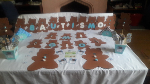 decoracion para bautismo, 1º añito, baby shower.