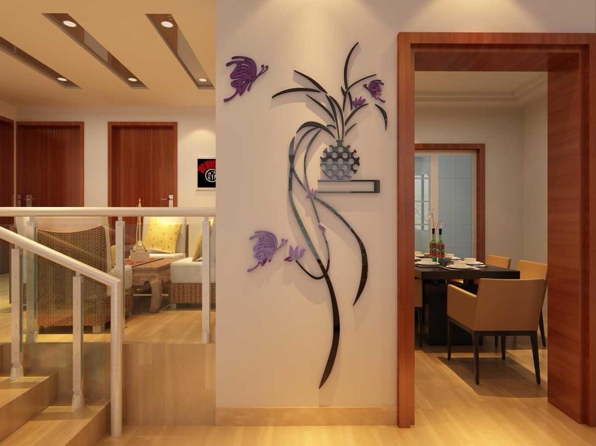 Decoracion para casa 3d planta decoracion paredes grande m - Adornos para la casa ...