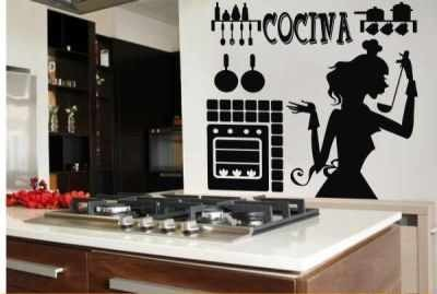 Decoracion para cocinas en vinilo adhesivo en for Decoracion vinilos