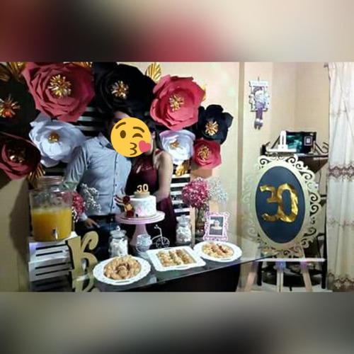 decoración para fiestas con flores