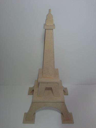 decoración para fiestas en madera torre eiffel diseño 3d