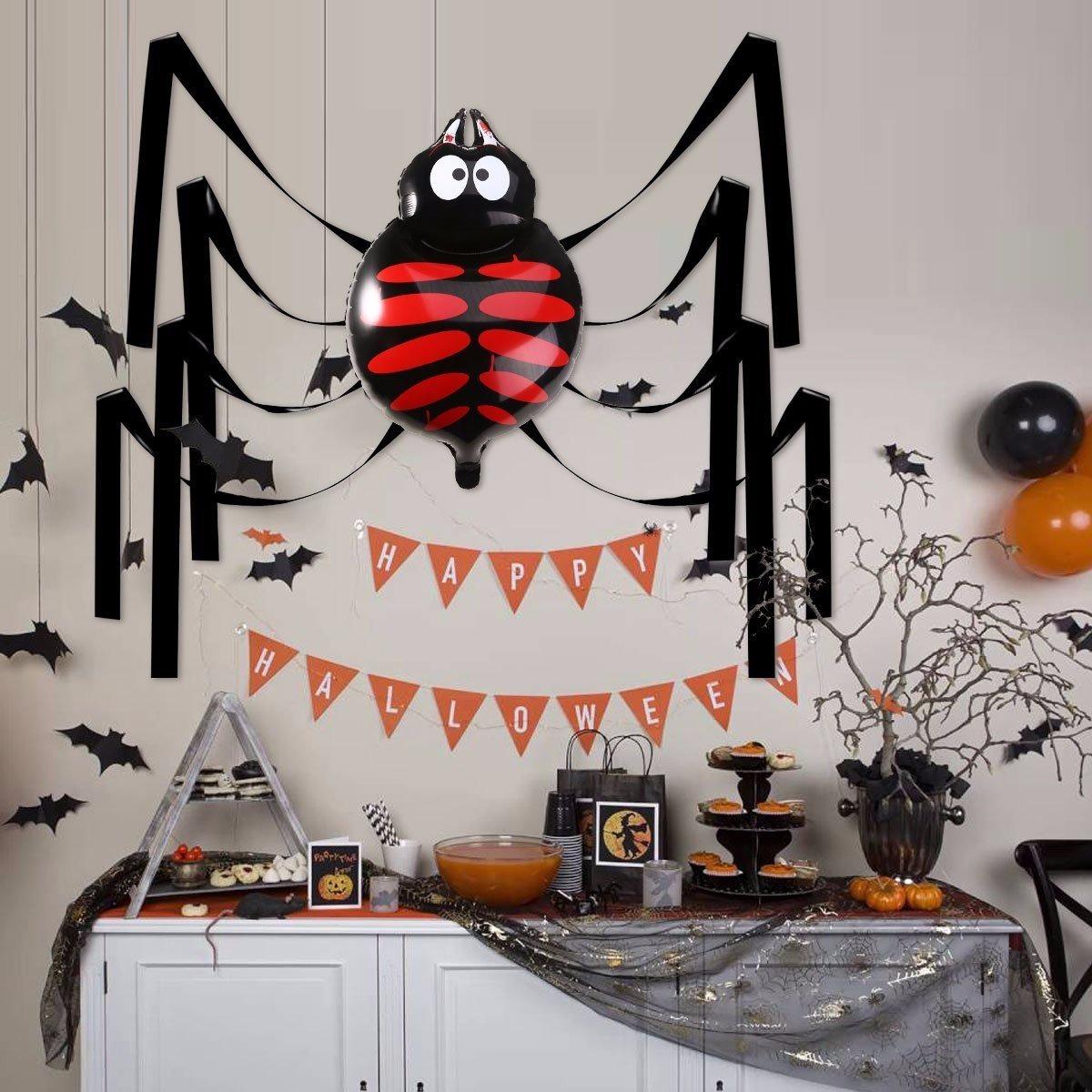 Decoracion para halloween globo de ara a gigante fiesta - Adornos de halloween ...