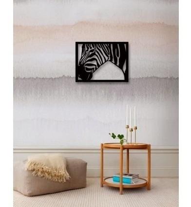 decoración para muro cuadro moderno cebra 59x47