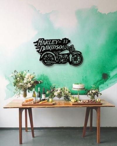decoración para muro cuadro moderno harley davidson