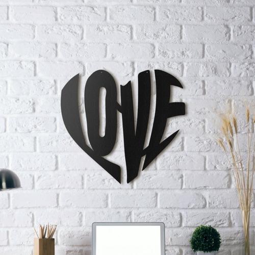 decoración para muro cuadro moderno love 50x50