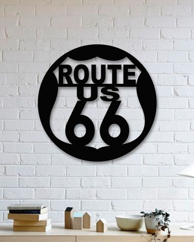decoración para muro cuadro moderno signo ruta 66