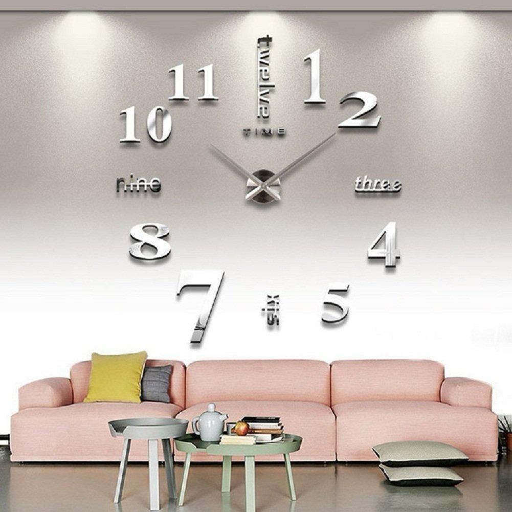 Decoracion Para Pared Calcomanias Adornos Reloj 3d B 154000 En - Adornos-para-paredes