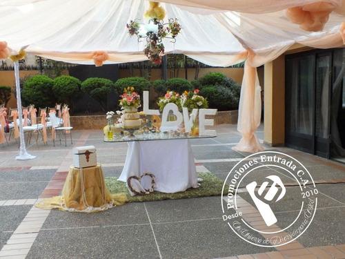 decoración para todo tipo de eventos (toldos, sillas, mesas)