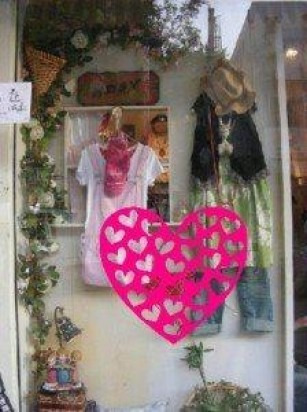 Decoracion para vitrinas dia del amor y la amistad en mercado libre - Decoracion de vitrinas ...