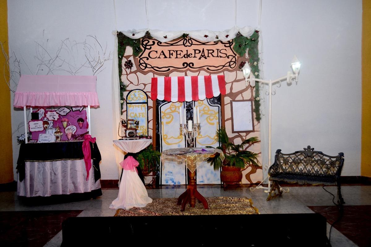 Decoracion paris y coco chanel 15 a os y vestido cafe de for Decoracion quince anos paris