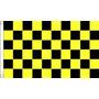 Bandera A Cuadros - Negro Y Amarillo 5ftx 3ft Con El Metal