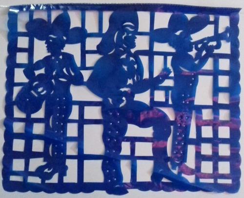 decoracion plastico picado enramada felicidades multicolor