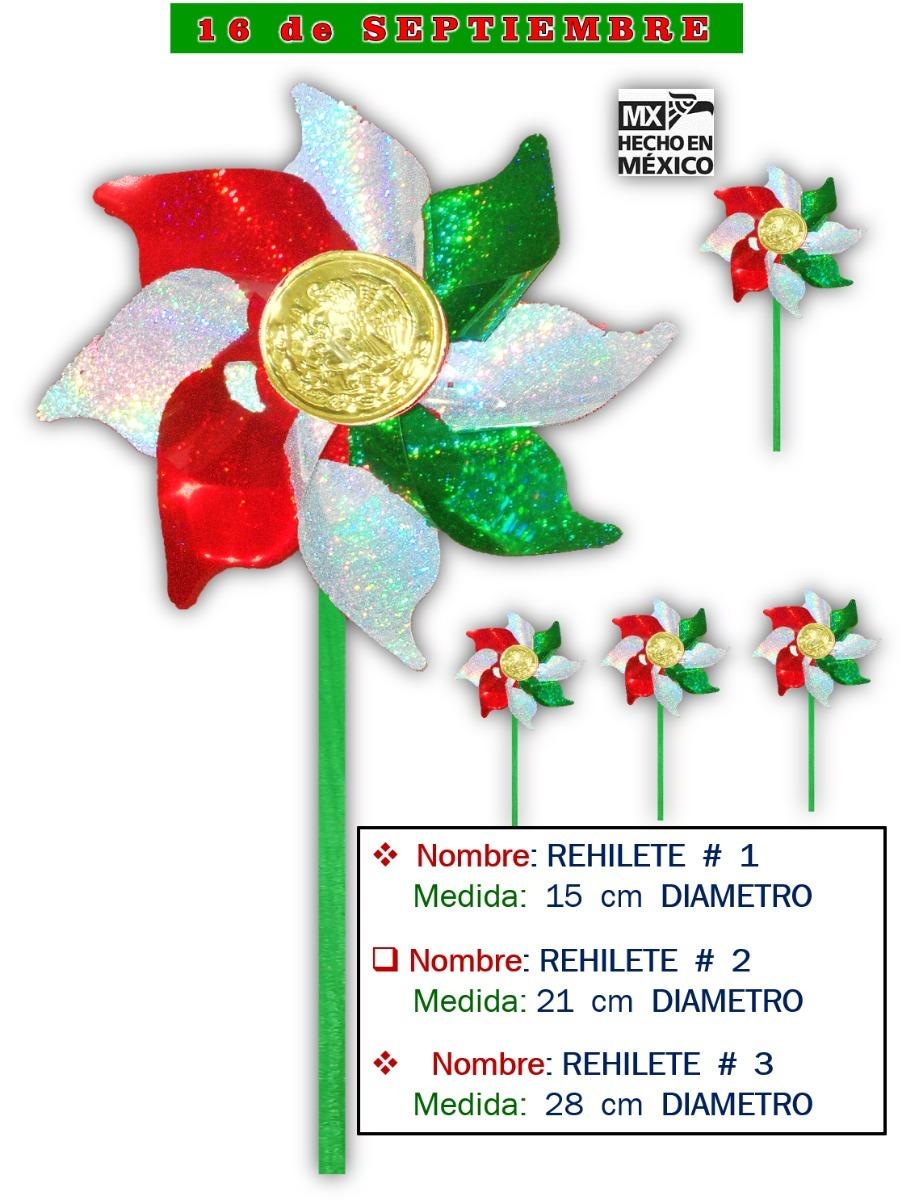 Decoración Rehilete Num 1 Tricolor Fiesta Mexicana 100 Pz
