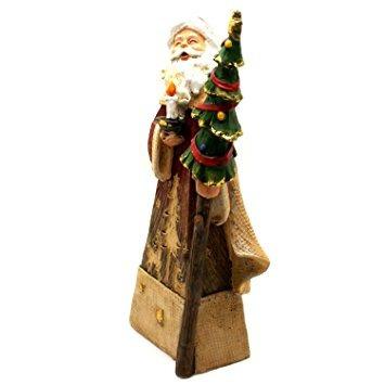 decoración romano figura de santa claus navidad madera viej