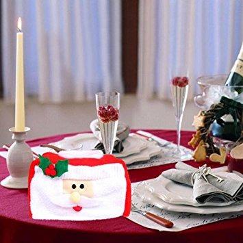 decoración tejido ftxj navidad cubre caja bolsas linda deco