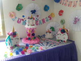 Decoracion Unicornio Para Fiesta Niña Piñata