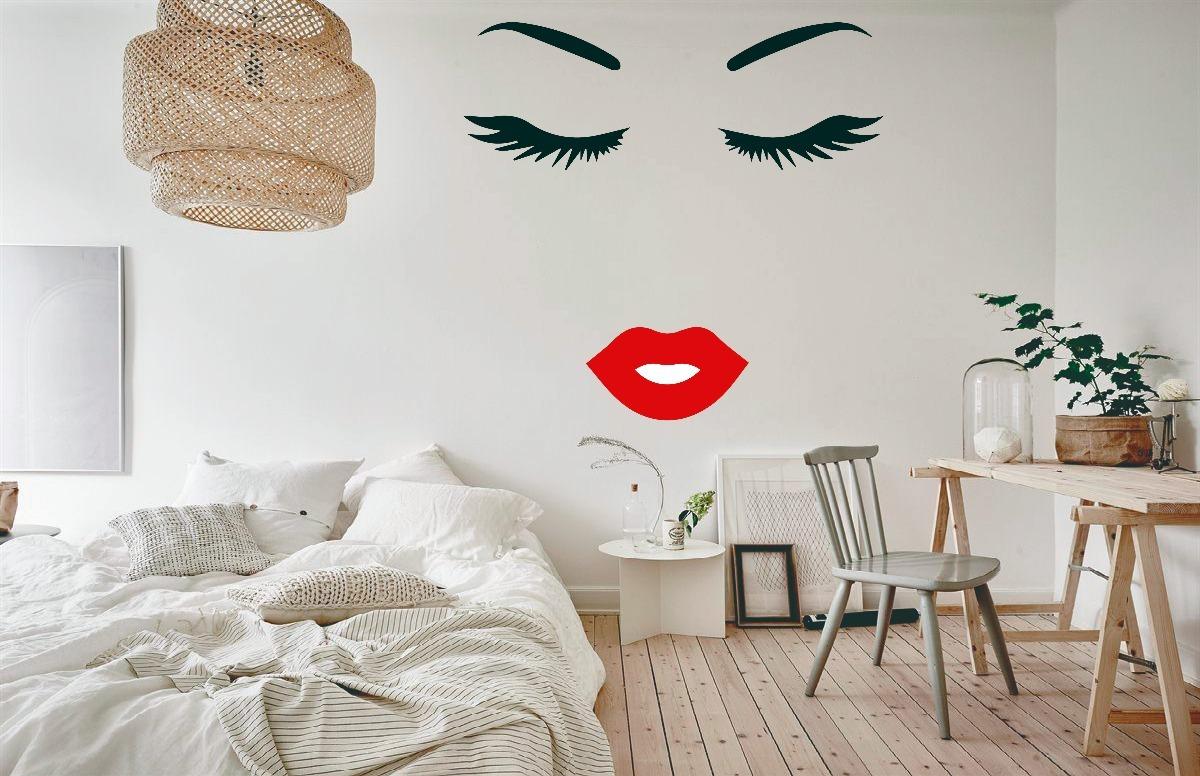 Decoracion Vinil Casa, Salon, Estetica. Pestañas,boca ...