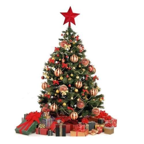 Decoracion Vintage Navidad Arbol Estrellas Golden 1 - Vintage-navidad