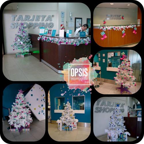 decoracion y escenografia navideña / sillon papá noel