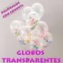 Globo Transparente R12 Latex Pqt 50 Un