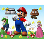 Kit Imprimible Mario Bros 2x1 Oferta Tarjeta Decoracion