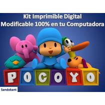 Kit Imprimible Candy Bar Pocoyo Cumpleaños Fiestas Tortas