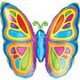 Globos Metalizados Mariposas Flores 30 Cm