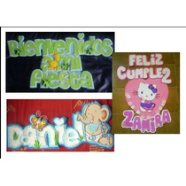 Letrero Banner Nombres Bienvenidos A Mi Fiesta Babyshower...