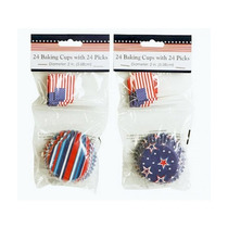 Capacillos Para Ponquesitos (cupcake) Usa Estrellas Bandera
