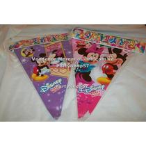 Banderines Superman Mickey Minnie Dora Diego Elmo Cotillon