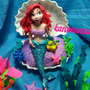 Princesa Ariel. Tope De Torta. Elaborado En Masa Flexible