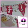Banderines Personalizados De Cumpleaños/bautizos/baby Shower