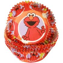 Capacillos Para Ponquesitos (cupcake) Elmo Plaza Sesamo X50