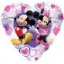 Globo Metalizado Mickey Y Minnie Corazon Amor De 18 Pulgadas