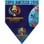 Tira De 18 Banderines Copa America 2016 Full Color 13,5 X 16