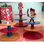 Base Para Ponques Cupcakes Mdf 3 Niveles Jake Y Los Piratas