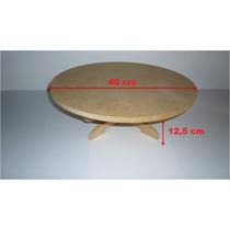 Base Giratoria Para Tortas De 40 Cm De Diametro En Mdf 12mm