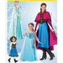 Hermoso Disfraz De Elsa Y Ana Frozzen Para Tus Niñas